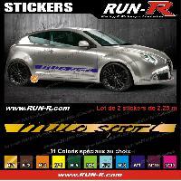 Adhesifs Alfa Romeo 2 stickers pour Alfa Romeo Mito Sport 162 cm - DIVERS COLORIS Run-R Stickers