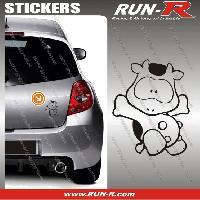 Adhesifs Animaux 1 sticker VACHE COOL 12 cm - NOIR Run-R Stickers