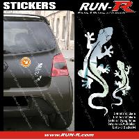 Adhesifs Animaux 2 stickers SALAMANDRE 17 cm - CHROME Run-R Stickers