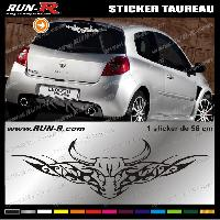 Adhesifs Animaux Sticker X1 TAUREAU TRIBAL 56 cm - DIVERS COLORIS Run-R Stickers