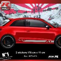 Adhesifs Audi Sticker bas de caisse 00ECA pour AUDI A1 - Argent Run-R Stickers