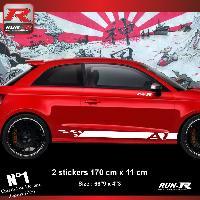 Adhesifs Audi Sticker bas de caisse 00ECB pour AUDI A1 - Blanc Run-R Stickers