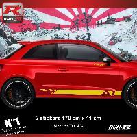 Adhesifs Audi Sticker bas de caisse 00ECJ pour AUDI A1 - Jaune Run-R Stickers