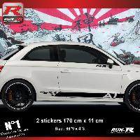 Adhesifs Audi Sticker bas de caisse 00ECN pour AUDI A1 - Noir Run-R Stickers