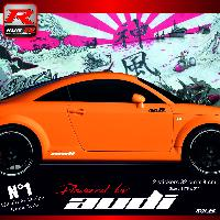 Adhesifs Audi Stickers Run-R 00CPRB Powered by Audi 32x8cm Rouge blanc Run-R Stickers