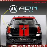 Adhesifs Auto Autocollant ADNAuto - Logo horizontal - Chrome - 11.5cm - ADNLifestyle