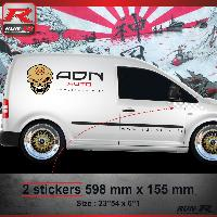Adhesifs Auto Par Marque 000B Sticker FLAG pour VOLKSWAGEN CADDY Blanc Run-R Stickers