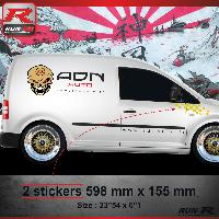 Adhesifs Auto Par Marque 000J Sticker FLAG compatible avec VOLKSWAGEN CADDY Jaune