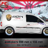 Adhesifs Auto Par Marque 000M Sticker FLAG pour VOLKSWAGEN CADDY Marine Run-R Stickers