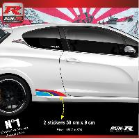 Adhesifs Auto Par Marque 00BA Pack stickers Sport compatible avec 207 208