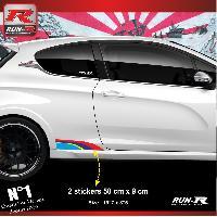 Adhesifs Auto Par Marque 00BA Pack stickers Sport pour 207 208 Run-R Stickers