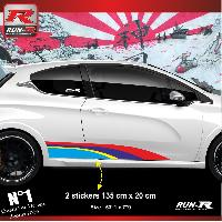 Adhesifs Auto Par Marque 00BB Pack de stickers Sport pour 207 208 Run-R Stickers