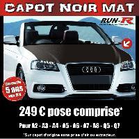 Adhesifs Capots CAPOT NOIR MAT pour AUDI A2- A3- A4- A5- A6- A7- A8- Q5- Q7 Run-R Stickers