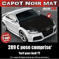 Adhesifs Capots CAPOT NOIR MAT pour AUDI TT - Run-R Stickers