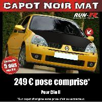 Adhesifs Capots CAPOT NOIR MAT pour CLIO 2 Run-R Stickers