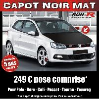 Adhesifs Capots CAPOT NOIR MAT pour GOLF -POLO -BORA -PASSAT- TOURAN -TOUAREG - Run-R Stickers
