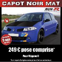 Adhesifs Capots CAPOT NOIR MAT pour MEGANE II Run-R Stickers