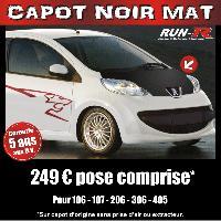 Adhesifs Capots CAPOT NOIR MAT pour PEUGEOT 107 Run-R Stickers