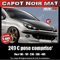 Adhesifs Capots CAPOT NOIR MAT pour PEUGEOT 206 - Run-R Stickers