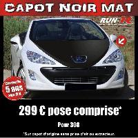 Adhesifs Capots CAPOT NOIR MAT pour PEUGEOT 308 Run-R Stickers