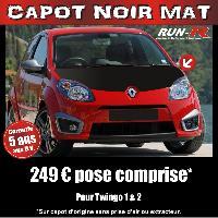 Adhesifs Capots CAPOT NOIR MAT pour TWINGO 1 et 2 Run-R Stickers