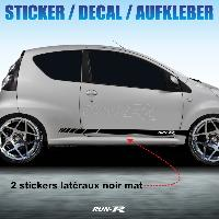 Adhesifs Citroen Sticker 296 RACING STRIPE Citroen C1 noir mat