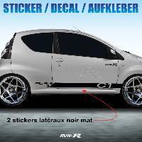 Adhesifs Citroen Sticker 957 TUNING STRIPE Citroen C1 noir mat