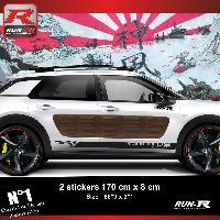Adhesifs Citroen Sticker bas de caisse 00EIN pour CITROEN CACTUS - Noir Racing Run-R Stickers