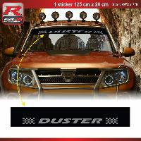 Adhesifs Dacia 1 sticker pare-soleil 00CUNA pour DACIA Duster - Noir et Argent Run-R Stickers