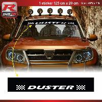 Adhesifs Dacia 1 sticker pare-soleil 00CUNB pour DACIA Duster - Noir et Blanc Run-R Stickers