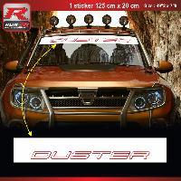Adhesifs Dacia 1 sticker pare-soleil 00CVBR pour DACIA Duster - Blanc et Rouge Run-R Stickers