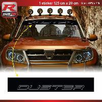 Adhesifs Dacia 1 sticker pare-soleil 00CVNA pour DACIA Duster - Noir et Argent Run-R Stickers