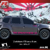 Adhesifs Dacia 2 stickers bas de caisse 00CSZ pour DACIA Duster - Rose Run-R Stickers