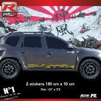 Adhesifs Dacia 2 stickers bas de caisse 00CTJ pour DACIA Duster - Jaune Run-R Stickers