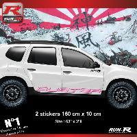 Adhesifs Dacia 2 stickers bas de caisse 00CTZ pour DACIA Duster - Rose Run-R Stickers