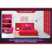 Adhesifs Enfants Sticker mural prenom fille coeur arabesque papillon 88 cm - Blanc - Run-R Stickers