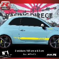 Adhesifs Fiat Sticker bas de caisse 00ENJ pour FIAT 500 - Jaune Run-R Stickers