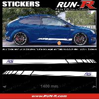 Adhesifs Ford 2 stickers pour FORD 140 cm - BLANC lettres MARINES Run-R Stickers