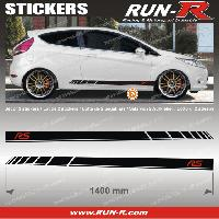 Adhesifs Ford 2 stickers pour FORD 140 cm - NOIR lettres ROUGE Run-R Stickers