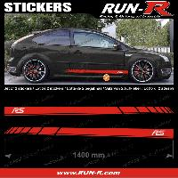 Adhesifs Ford 2 stickers pour FORD 140 cm - ROUGE lettres BLANCHES Run-R Stickers