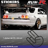 Adhesifs JDM Sticker JDM 10 cm noir Japan Domestic Market compatible avec Honda Nissan Toyota Subaru Mazda Run-R Stickers