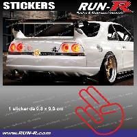 Adhesifs JDM Sticker JDM 10 cm rouge Japan Domestic Market compatible avec Honda Nissan Toyota Subaru Mazda