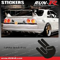 Adhesifs JDM Sticker JDM 9 cm noir Japan Domestic Market compatible avec Honda Nissan Toyota Subaru Mazda