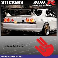 Adhesifs JDM Sticker JDM 9 cm rouge Japan Domestic Market compatible avec Honda Nissan Toyota Subaru Mazda