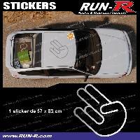 Adhesifs JDM Sticker de toit JDM 83 cm argent Japan Domestic Market compatible avec Honda Nissan Toyota Subaru Mazda Run-R Stickers