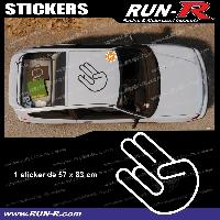 Adhesifs JDM Sticker de toit JDM 83 cm blanc Japan Domestic Market compatible Honda Nissan Toyota Subaru Mazda Run-R Stickers