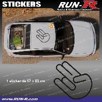 Adhesifs JDM Sticker de toit JDM 83 cm noir mat Japan Domestic Market compatible Honda Nissan Toyota Subaru Mazda Run-R Stickers