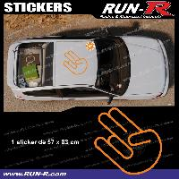 Adhesifs JDM Sticker de toit JDM 83 cm orange mat Japan Domestic Market compatible Honda Nissan Toyota Subaru Mazda Run-R Stickers
