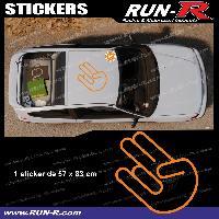 Adhesifs JDM Sticker de toit JDM 83 cm orange mat Japan Domestic Market compatible avec Honda Nissan Toyota Subaru Mazda Run-R Stickers