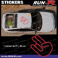 Adhesifs JDM Sticker de toit JDM 83 cm rouge mat Japan Domestic Market compatible Honda Nissan Toyota Subaru Mazda Run-R Stickers